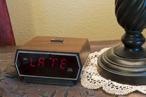 So, if this is your faux wood digital alarm clock circa 1972...it explains a lot. Evan Flickr Creative Commons